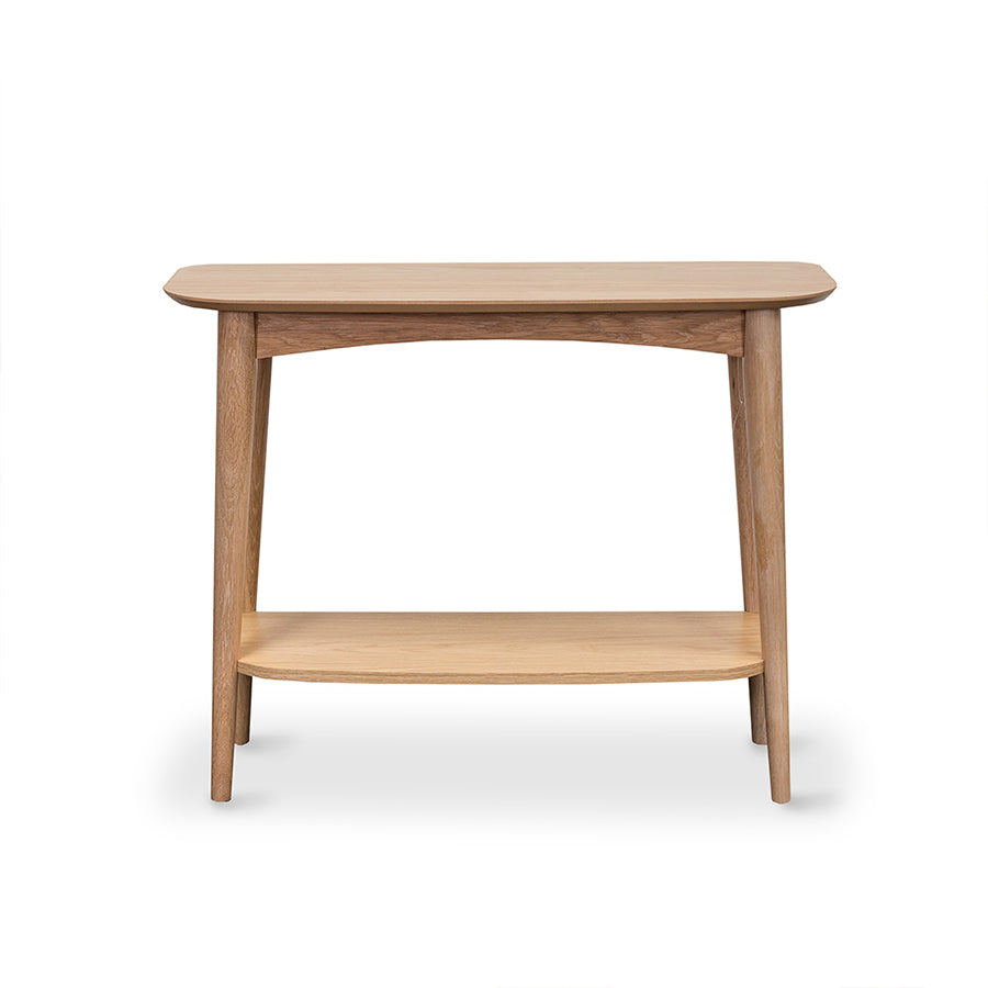 Oslo console table with shelf