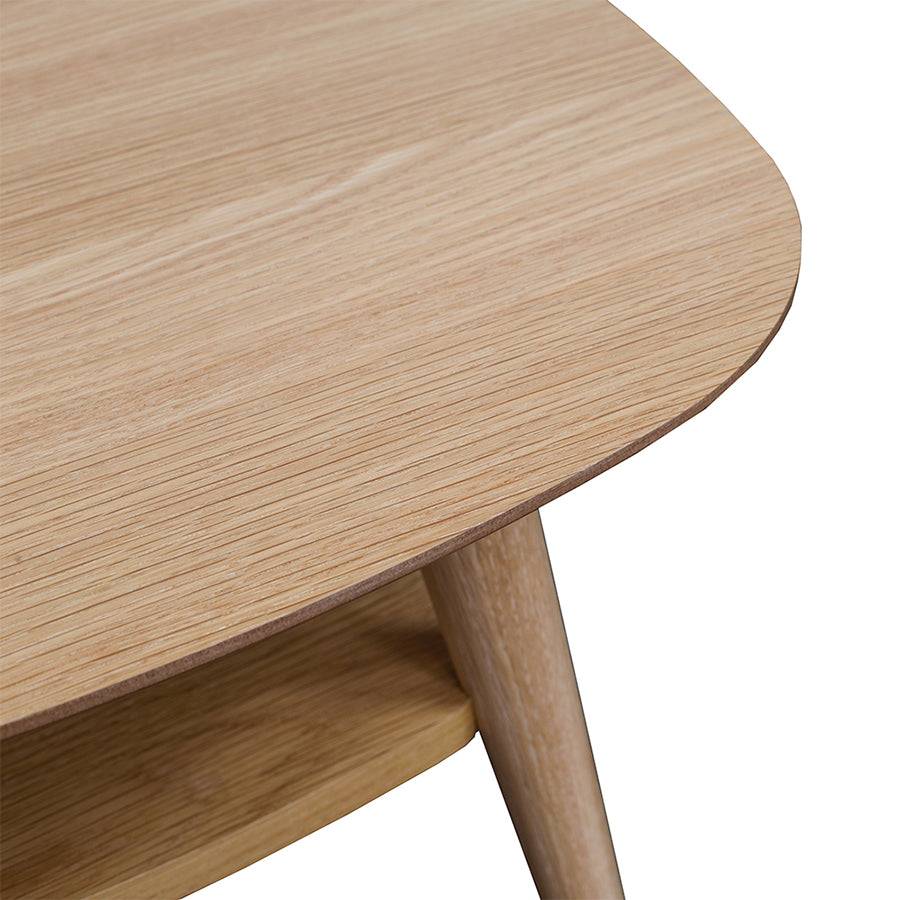 Oslo side table with shelf