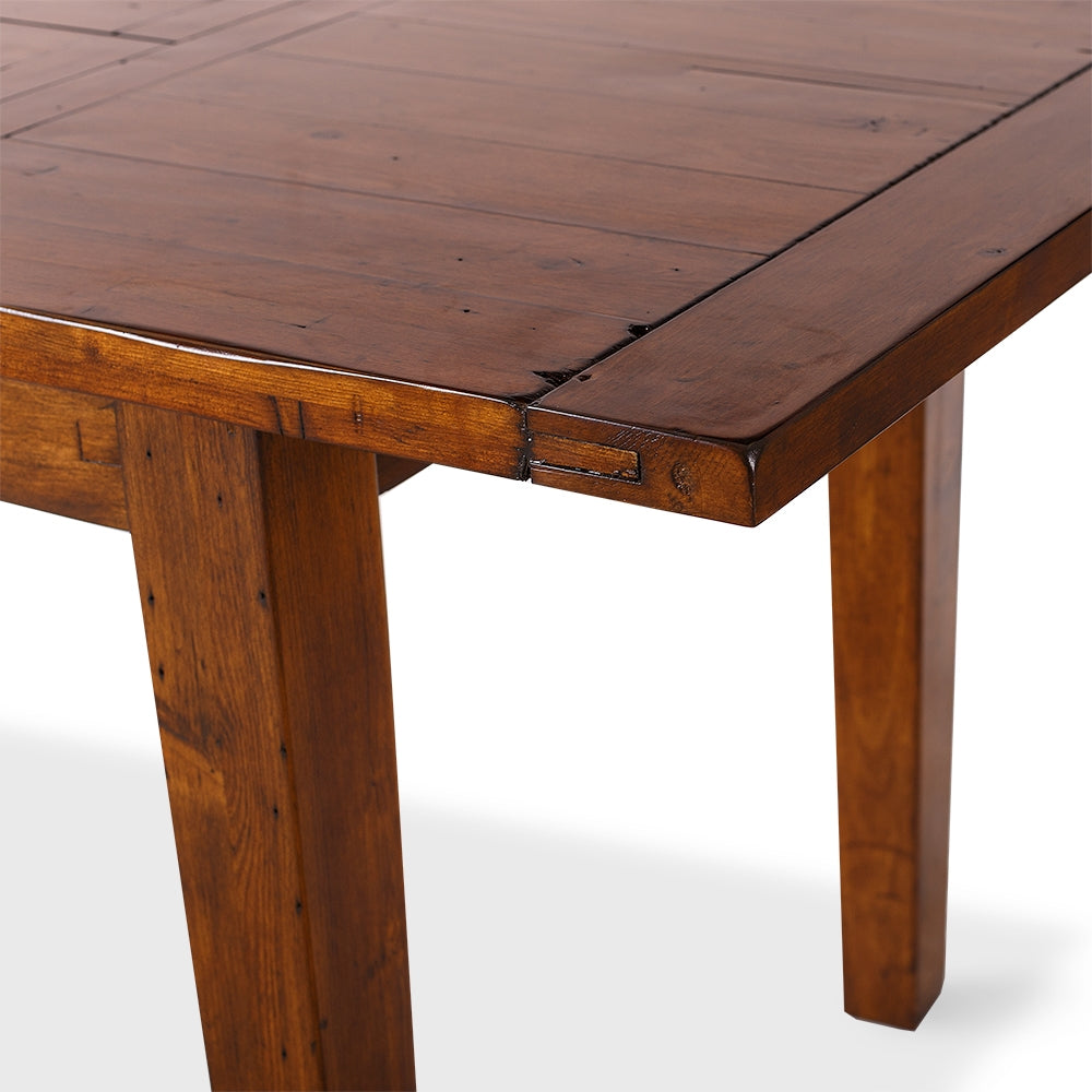 extendable dining table dark wood