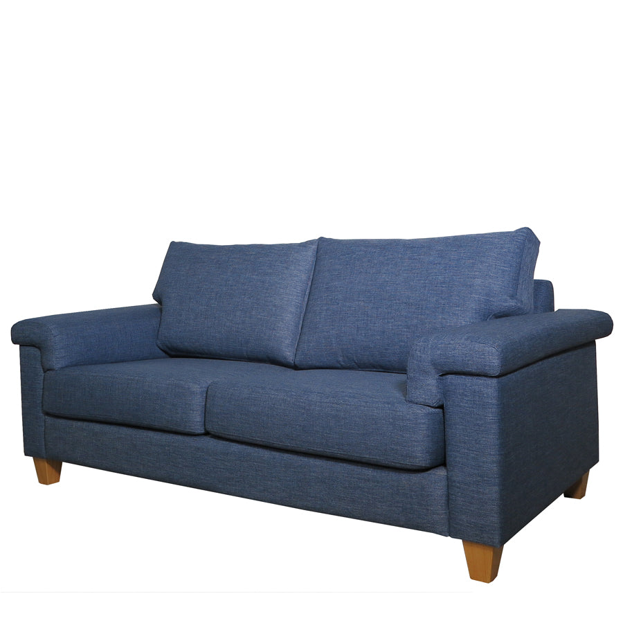 Palm Springs 2.5 Seat Sofa Front Angle Denim Blue