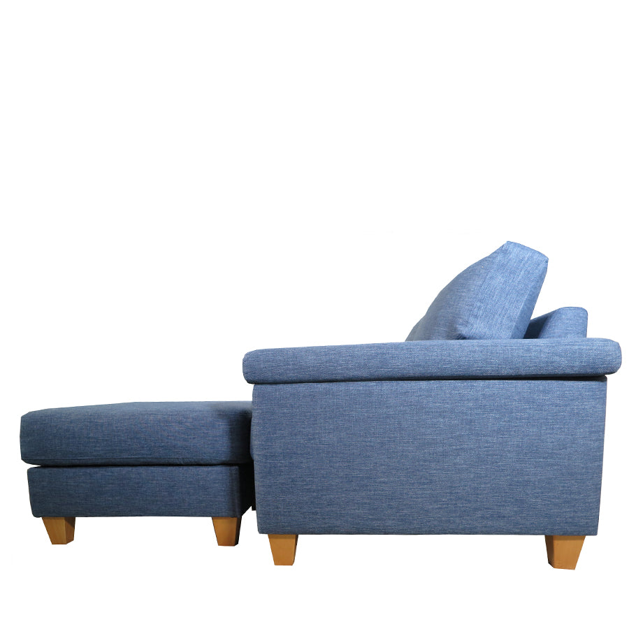 Palm Springs 2.5 Seat Sofa + Ottoman Side Denim Blue