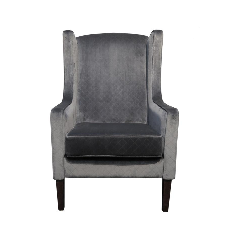Partridge Armchair grey velvet
