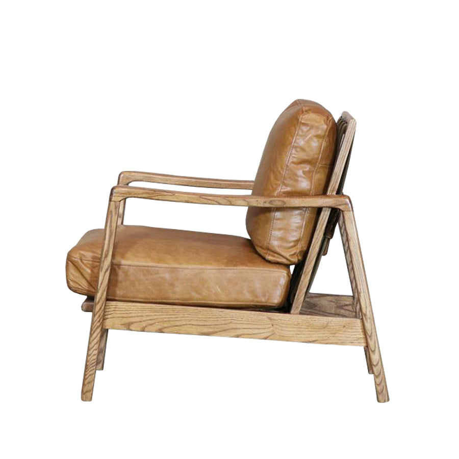 Yukon leather armchair - tan