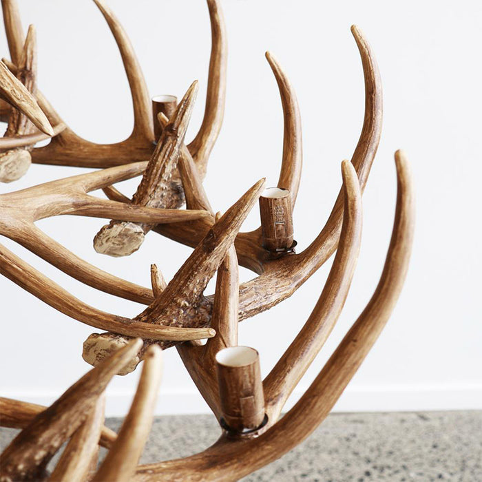 Resin Antler Chandelier - Large