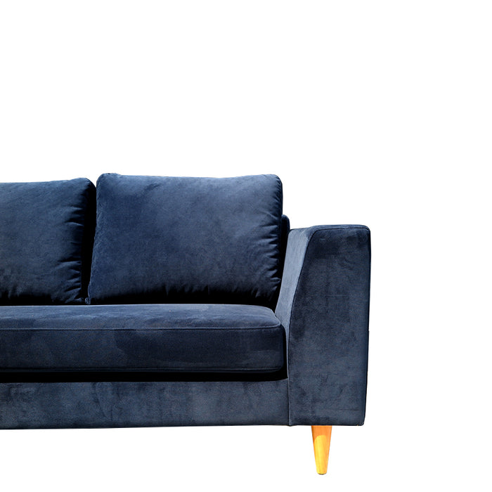 santa barbara sofa in blue velvet
