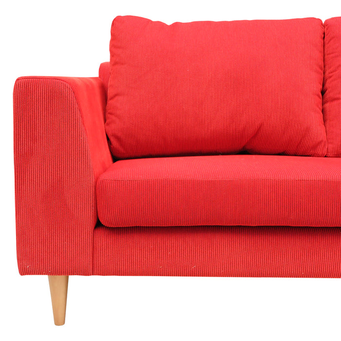 Santa Barbara Sofa & Lge Chaise - Rave 'Flame'