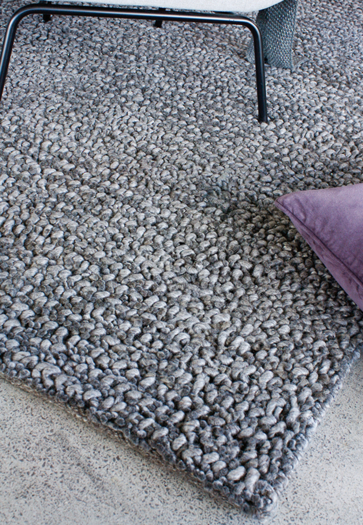 Wanaka wool rug - dark grey