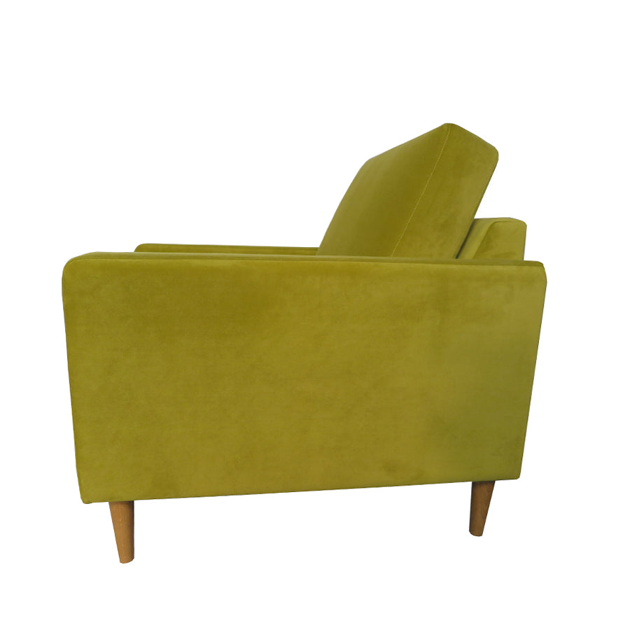 Chanel Armchair - Plush Olive fabric