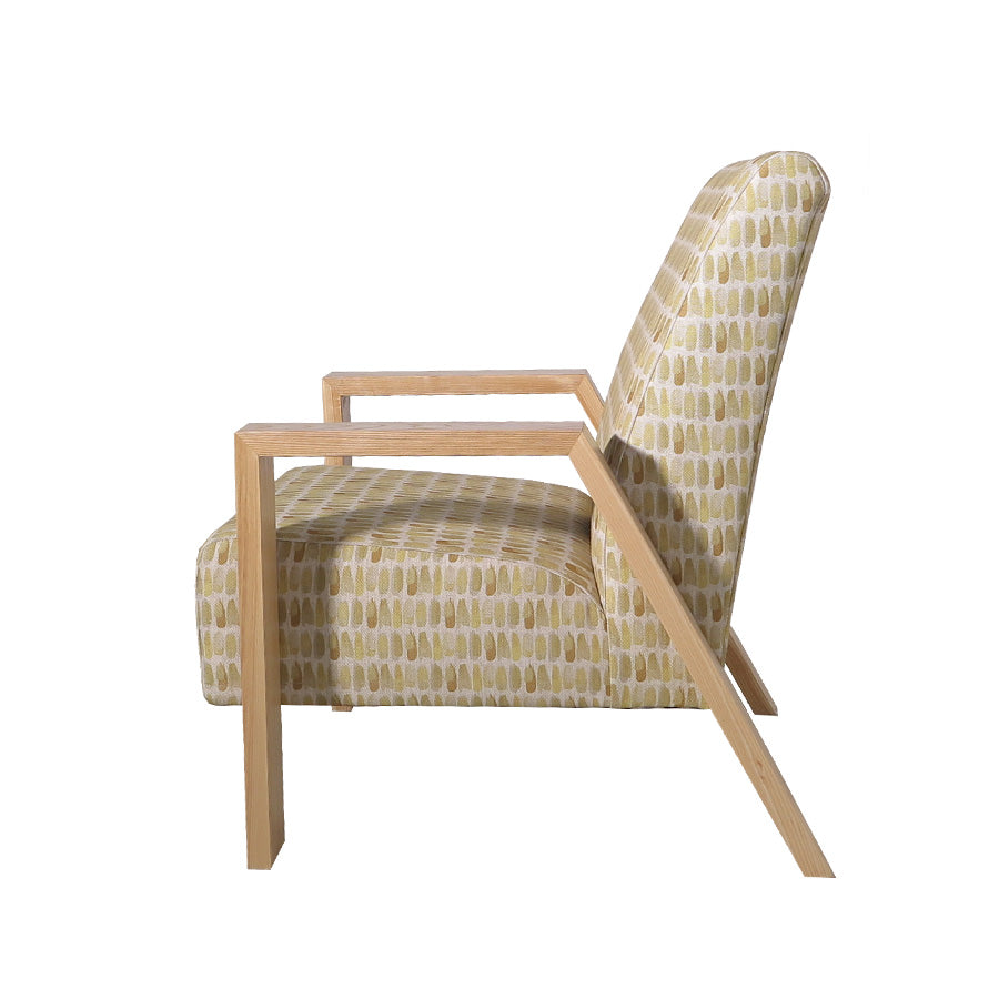 Mogambo Armchair - Brianna 'Daffodil' - side view