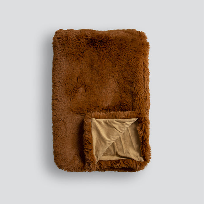 Indira 100% linen cushion - Sienna 550x550mm