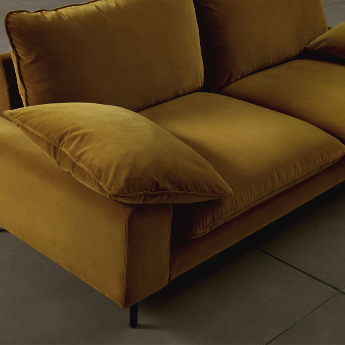 Studio 3seat sofa - Gold Cotton Velvet- details