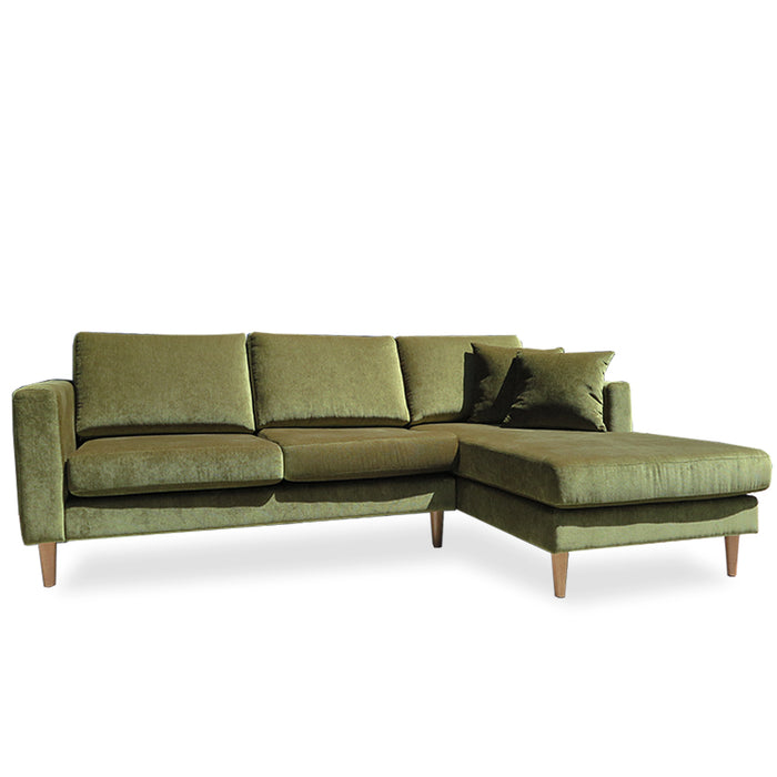 Tango 2 seat sofa & chaise - Victory 'leaf'