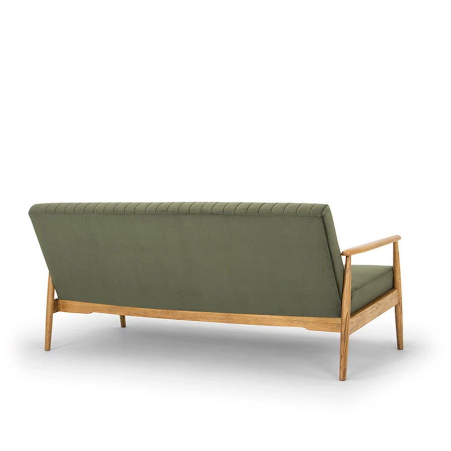 rapaki 3 seat sofa velvet green fabric
