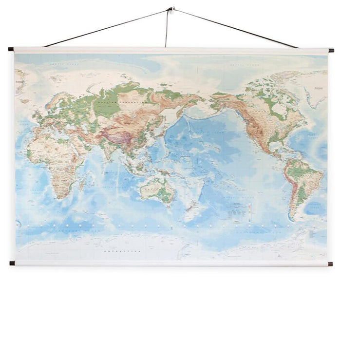 Canvas world map hanging - large