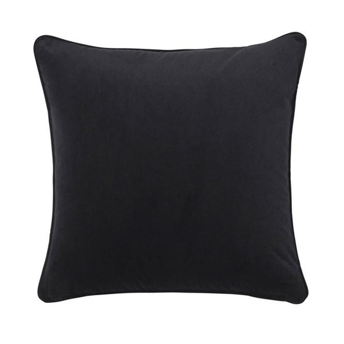 Zoe feather cushion - ebony