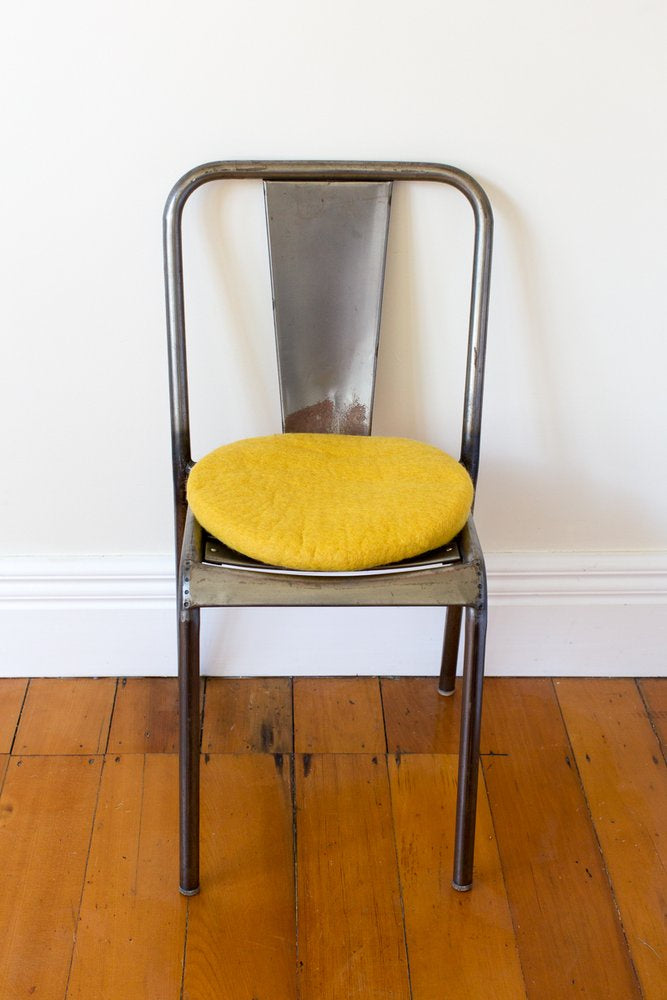 Misery Guts Tush Cush Cushion - mustard yellow