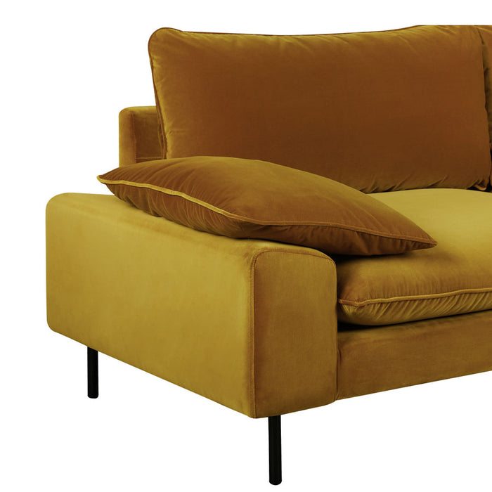 Studio Armchair - Gold Cotton Velvet