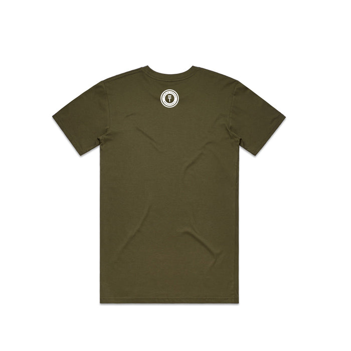 Newtown T-Shirt- Army, back