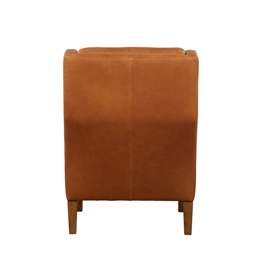 Batman Armchair - Tan Leather - Back