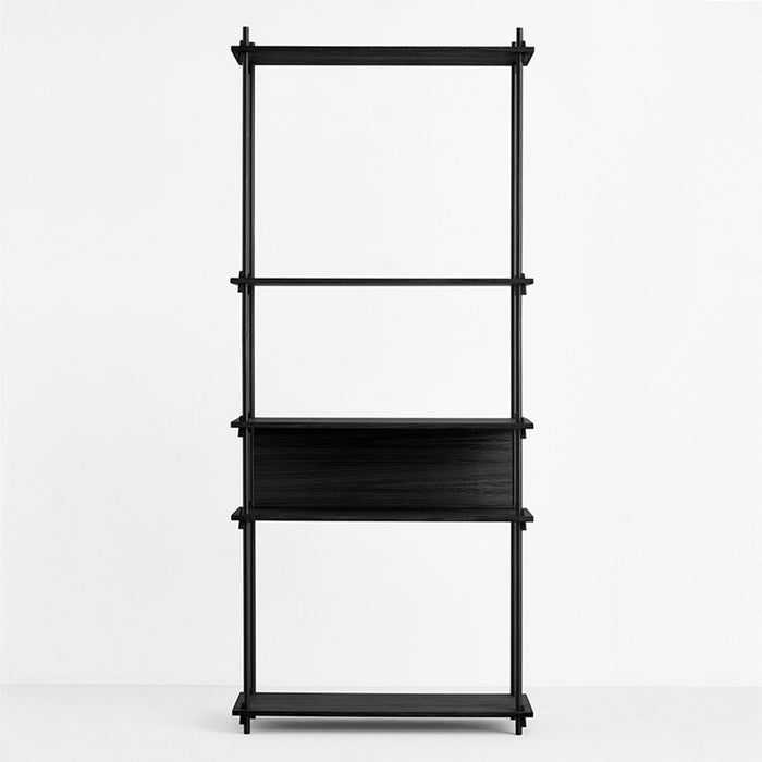 moebe shelving system black back plate