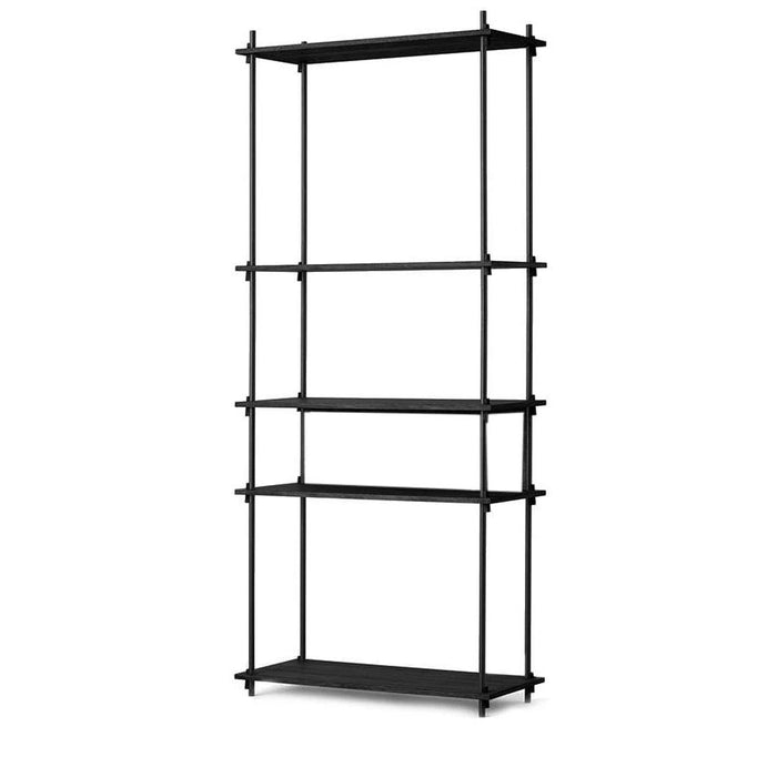 Moebe Tall Shelving System - Black