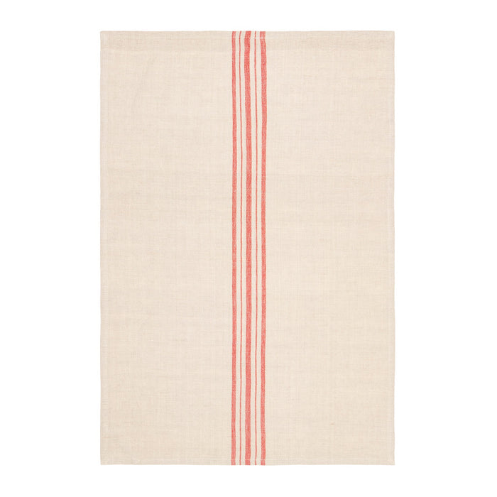 Linen tea towels - red stripe