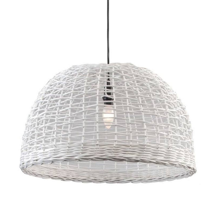 Wicker check lightshade