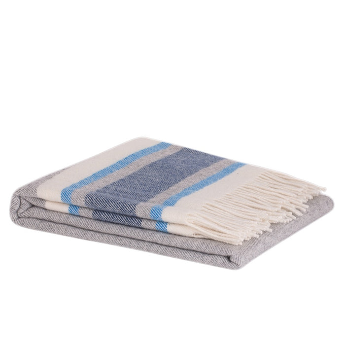 Ohope lambswool throw - sailor