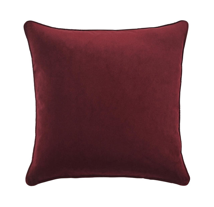 Zoe feather cushion - beetroot