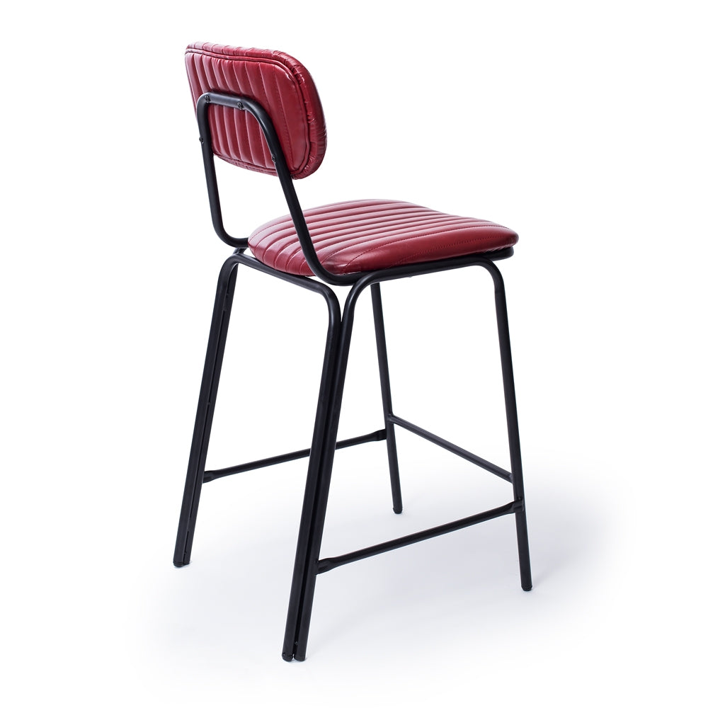 Cue bar stool - red