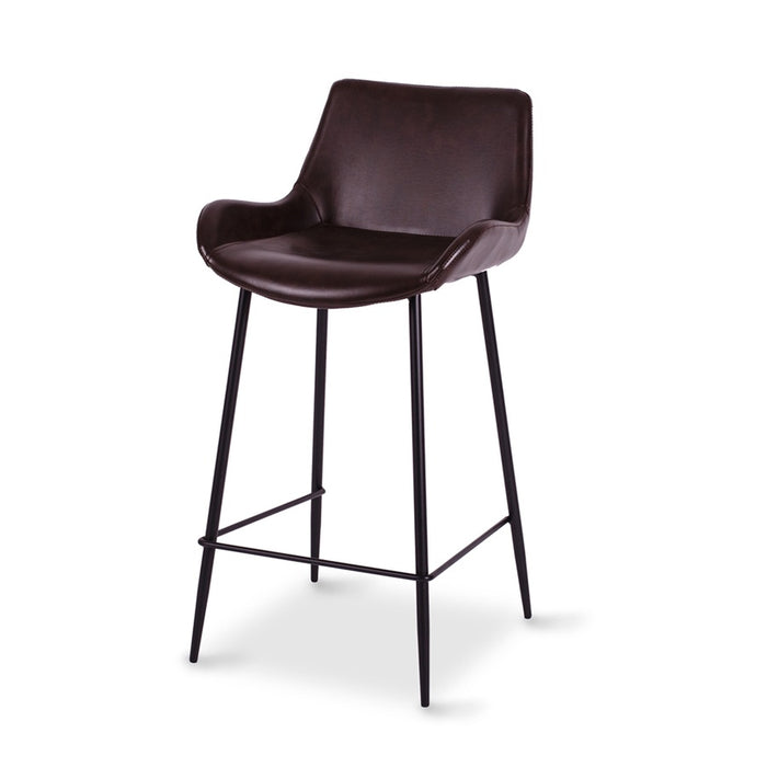 Plimmerton barstool - dark brown