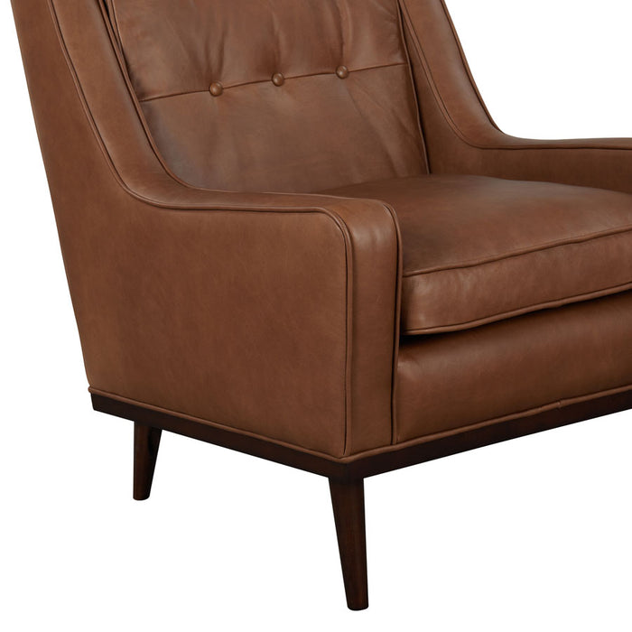 Cigar Armchair - Brown Leather -details