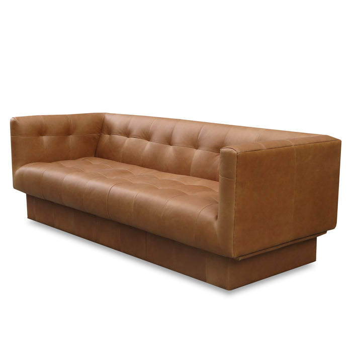 Bruno leather 3 seat sofa - tan - limited stock