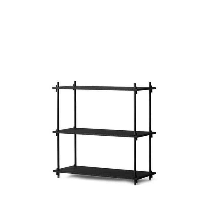 moebe shelving system low black