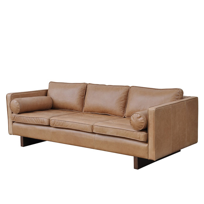 Mars Leather 3 Seat Sofa - Russett