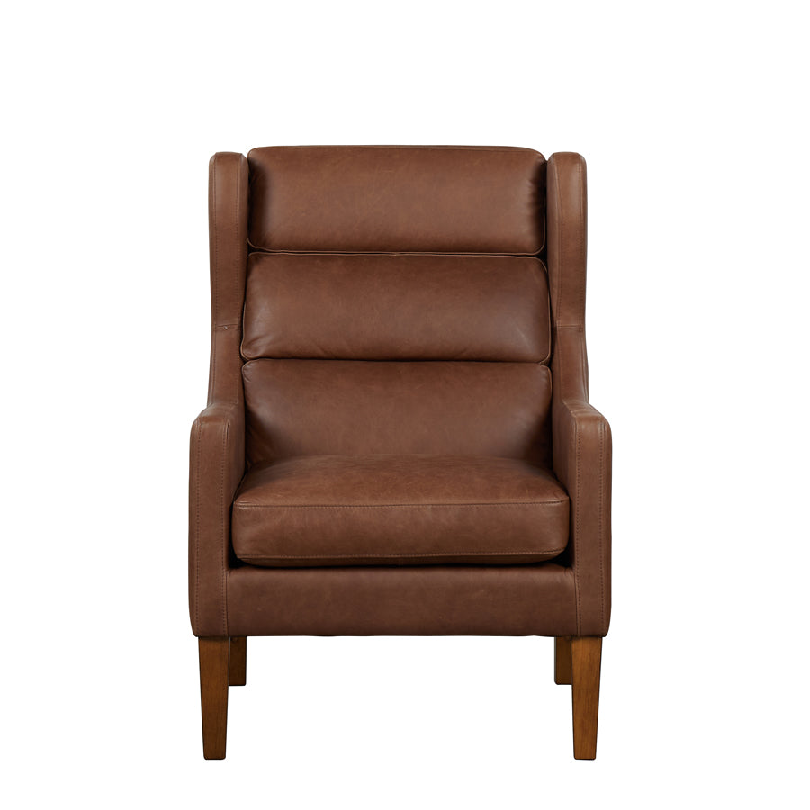 Batman Armchair - Brown Leather - front