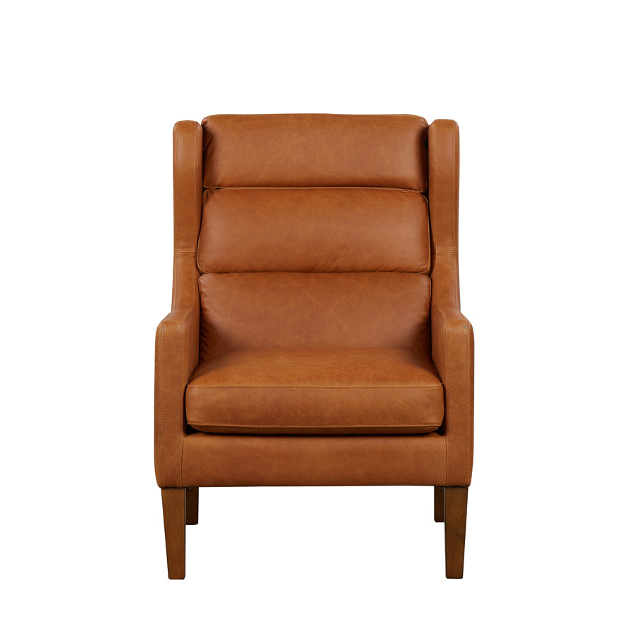 Batman Armchair - Tan Leather - Front