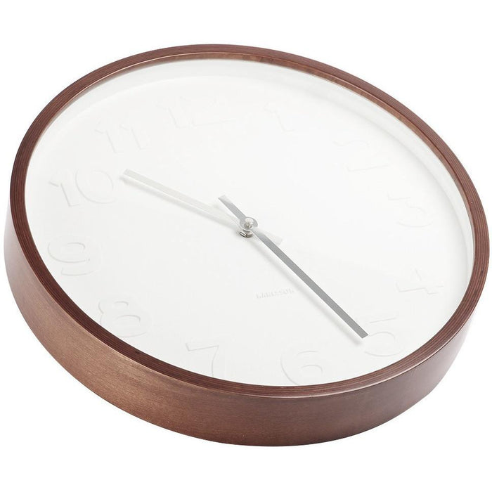 Mr White Wall Clock - Wood