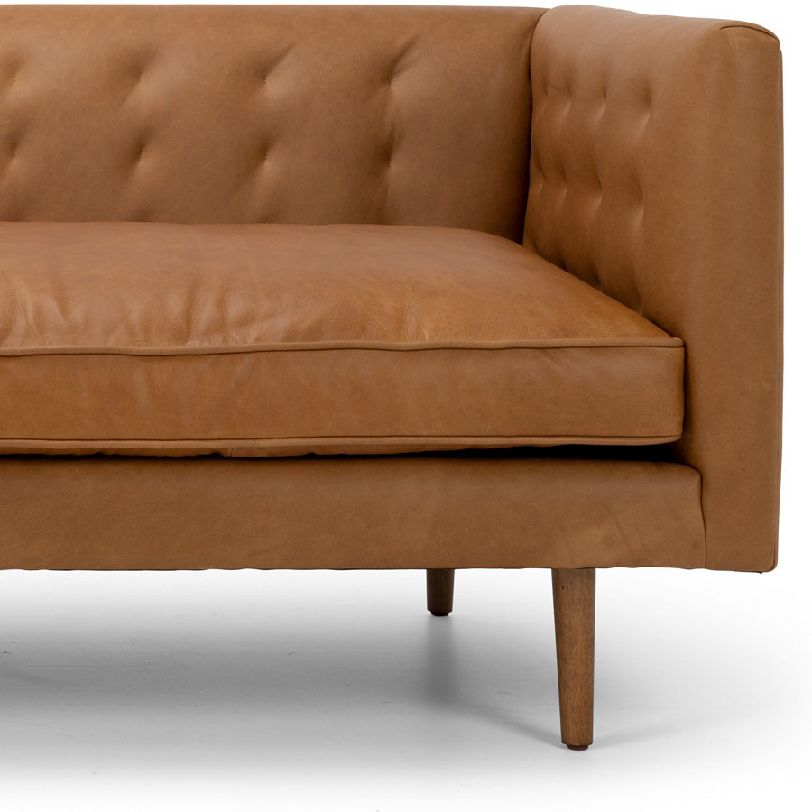 Yogi 3 seat sofa - Charme Russet - arm and leg details