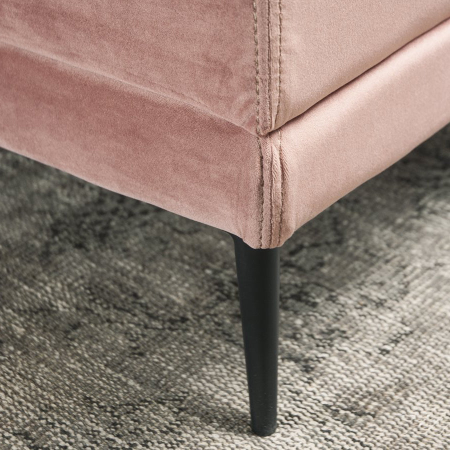 Lorenzo Pillow top Ottoman - Rose - leg detail