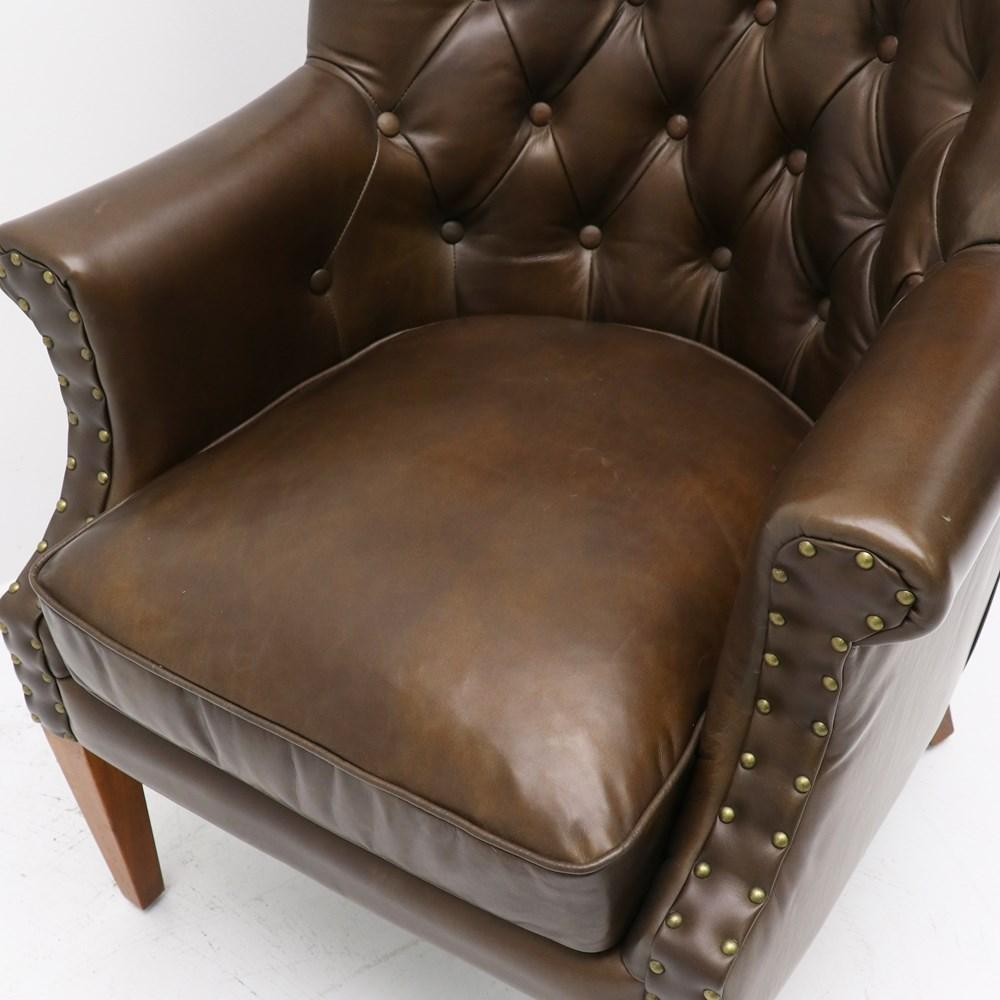 Luca Armchair - Brown Leather