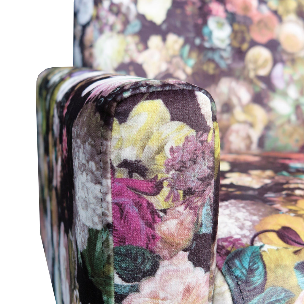Marseille Armchair in floral fabric
