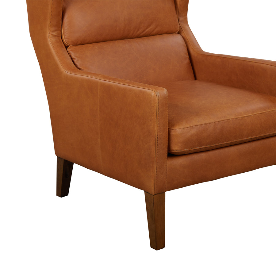 Batman Armchair - Tan Leather - Details