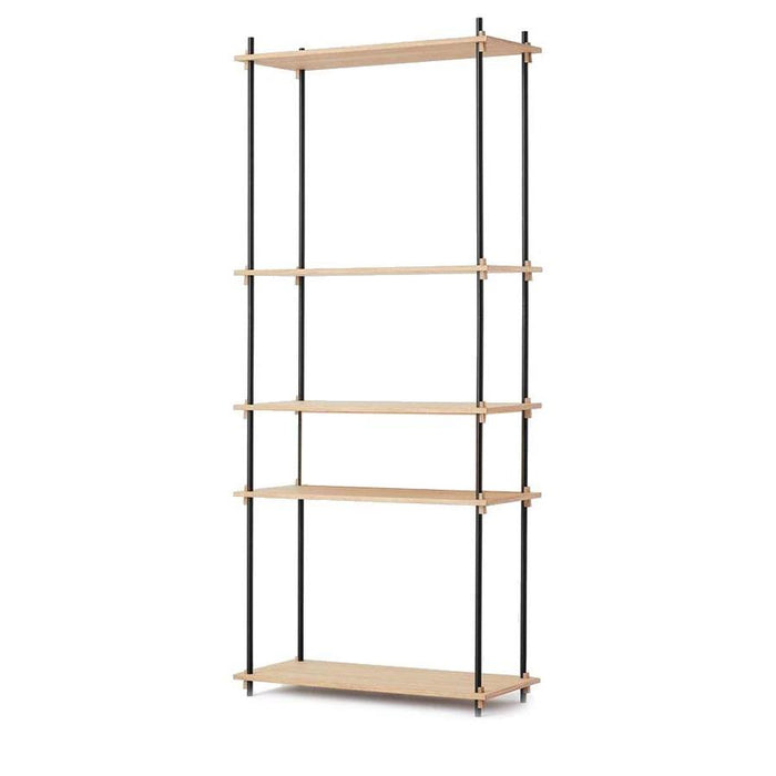 Moebe Tall Shelving System - Oak
