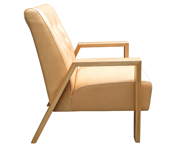 Mogambo Chair - Coronet 'Camel' leather