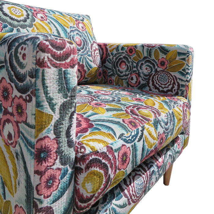 Monterey feather filled floral pattern armchair
