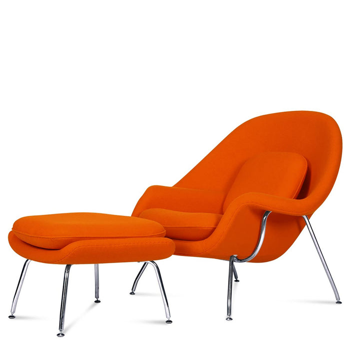 Saarinen Armchair + Ottoman - Orange