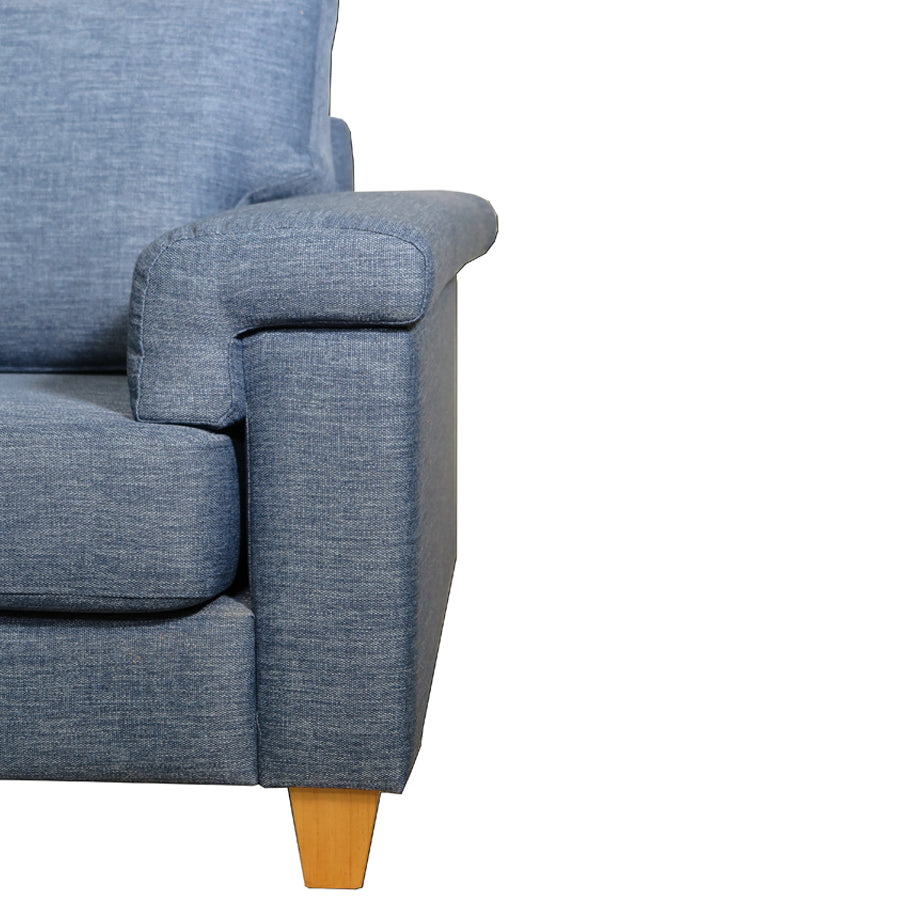 Palm Springs 2.5 Seat Sofa leg detail Denim Blue