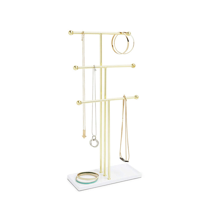 Umbra Trigem Jewellery Stand - Brass