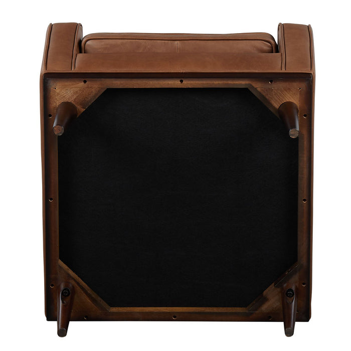 Cigar Armchair - Brown Leather -underside